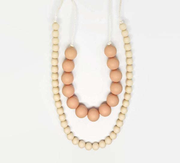 Pink and cream natural necklace