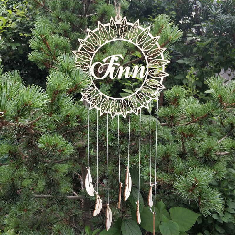 Personalized Wooden Dreamcatcher - feathers