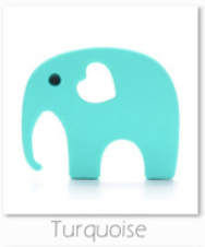 Elephant teether 4 colours