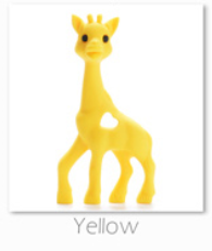 yellow giraffe baby teether