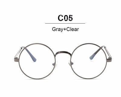 0162c407e0 Nerd Vintage Round Glasses Men Women Metal Frame With Clear Lens  Transparent Harry Potter Eyewear Retro