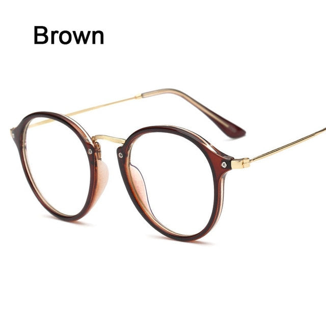 43cb5e0a79 Anti Blue Ray Women Computer Glasses For Men Transparent Eyeglasses Round  Fashion Spectacle Frame Oculos De