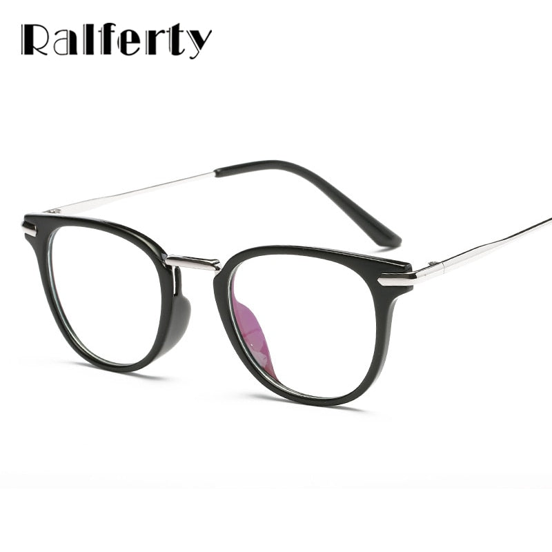 cc6017b2245 Ralferty TR90 Cat Eye Glasses Frame Women Vintage Retro Eyeglasses Computer Glasses  Clear Goggles Optical Frames