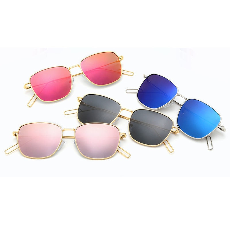 6525ba1c0a Luxury Polarized Sunglasses Women Square Polaroid Vintage Sun glasses Men  Metal Fashion Flat fashion Mirror retro