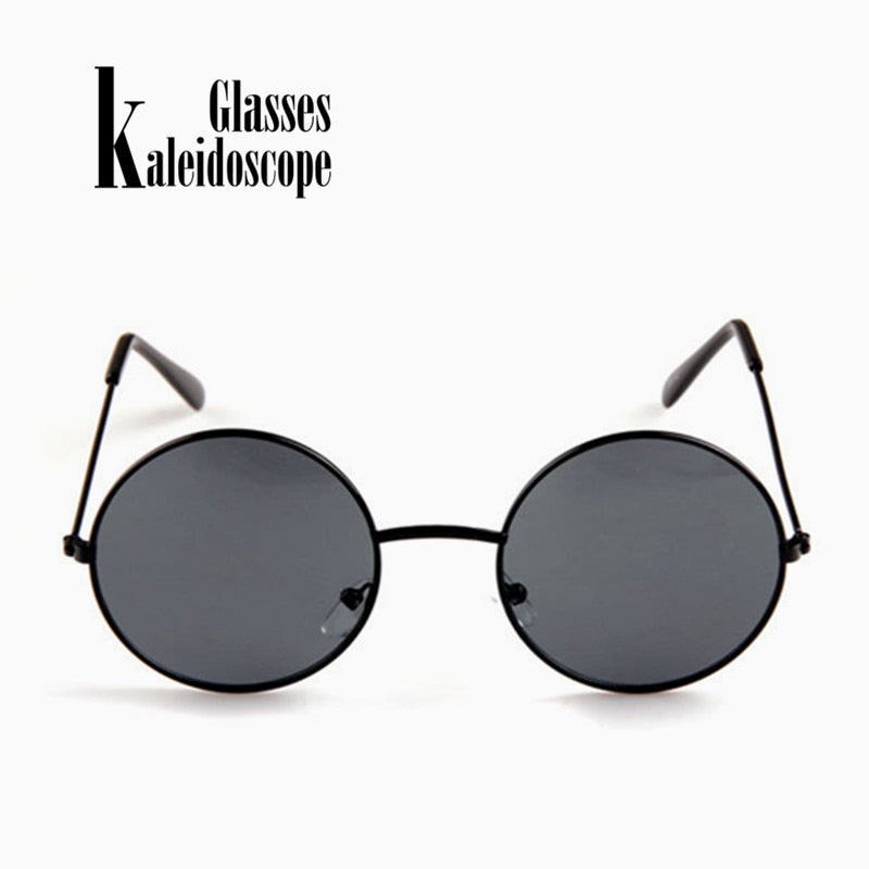 36484fcc40 Kaleidoscope Glasses Women Men Sunglasses Round Metal Frame Brand Designer  Mirrored Eyewears Retro Females Male Sun