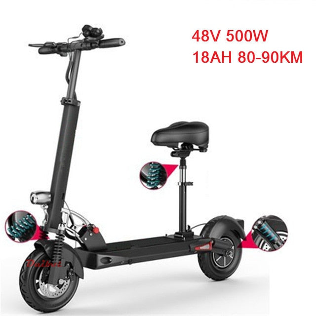 Scooter With Seat >> Daibot Electric Scooter 48v Two Wheel Electric Scooters With Seat