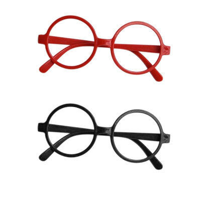 c142b3d176 Childrens Kids Round Shape Black Or Red Frame Pretty Glasses Christmas Gift  W77