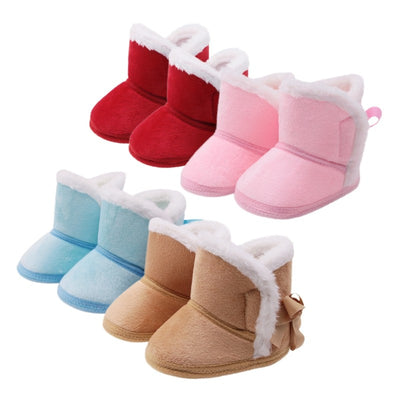 d3ee4741c6f815 Pretty Warm Newborn Baby Girls Princess Winter Boots First Walkers Anti-slip  Infant Toddler Child