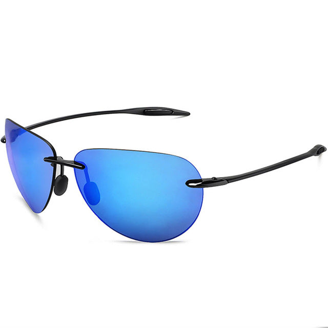 3670e7814fe9 JULI Classic Sports Sunglasses Men Women Male Driving Golf Pilot Rimless  Ultralight Frame Sun Glasses UV400