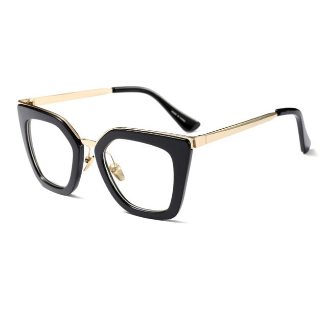 7782a20a20fe MADELINY Newest Eyeglass Frame Women Cat Eye Glasses Brand Designer Half  Alloy Frame Eyewear Classic Clear