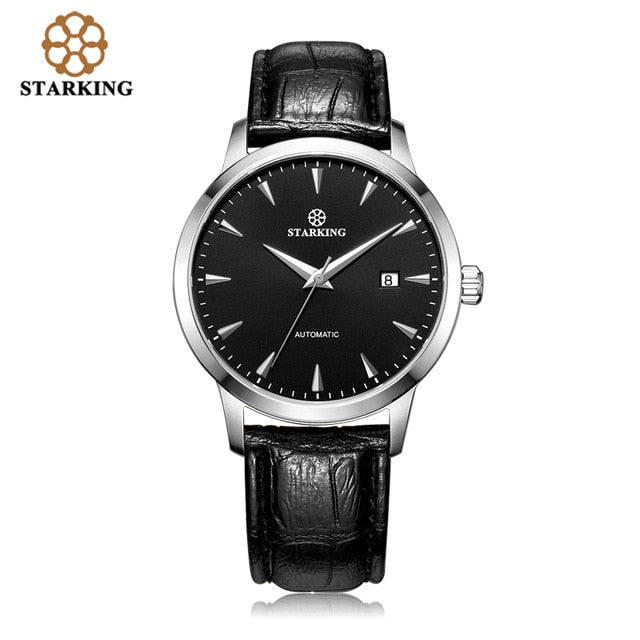 4f23d4843 STARKING Automatic Watches Men Stainless Steel Business Wristwatch Leather  Fashion 50M Waterproof Male Clock Relogio Masculino