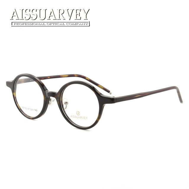d30fc9ec1f 2018 Acetate Round Vintage Prescription Eyeglasses Men Women Eyewear  Goggles Top Quality Retro Reading Computer Glasses