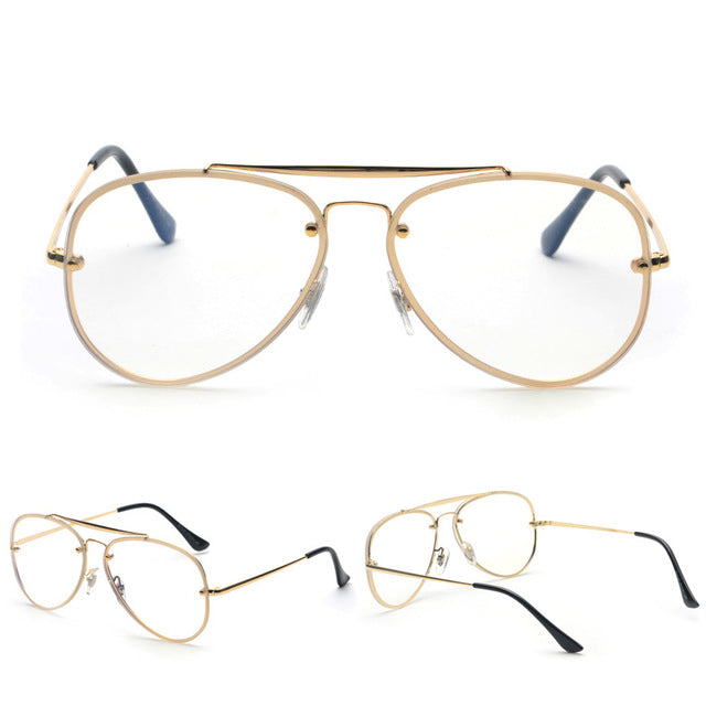 3fb0859a3d7 MOLNIYA Big Eye Glasses Frames For Men 2018 Brand Designer Flat Top Silver Gold  Eyeglasses Optical