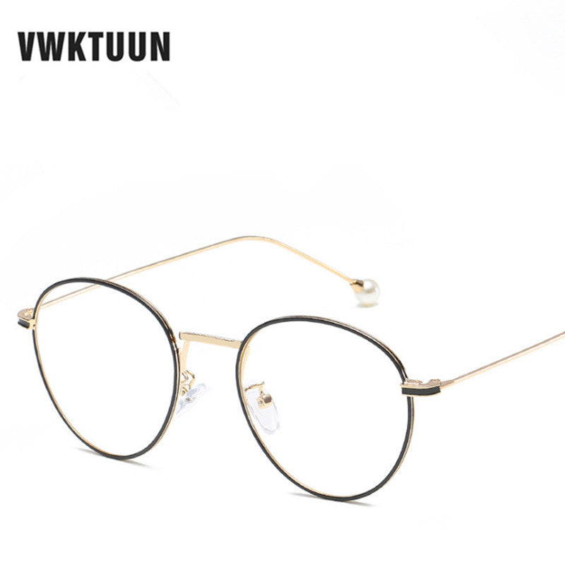 15e4c7f7534 VWKTUUN Vintage Round Eyeglasses Frames Men Glasses Women Optical Lens Frame  Anti Blu-ray Computer
