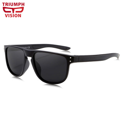 a4e6c132a6a TRIUMPH VISION Unique Transparent Frame Sunglasses Men Polarized Driving  Sun Glasses Male Fashion Square Blue Mirror