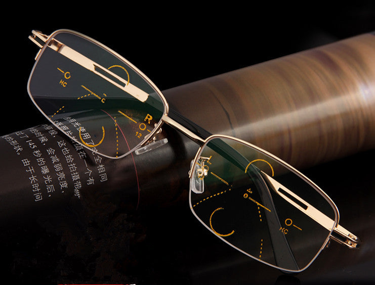 054a89ed8a18 Reading glasses alloy bifocal progressive reading eyeglasses presbyopic  glasses ADD+100 to +400
