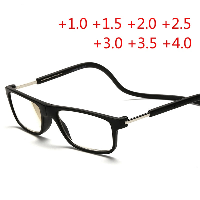 ee1f13685555 Fashion Magnetic Glasses can hung around the neck Front magnet Connect Reading  Glasses Brand Design Diopter