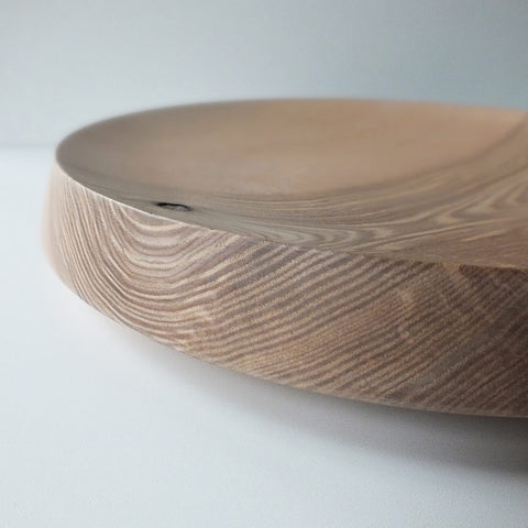 big flat bowl in ash