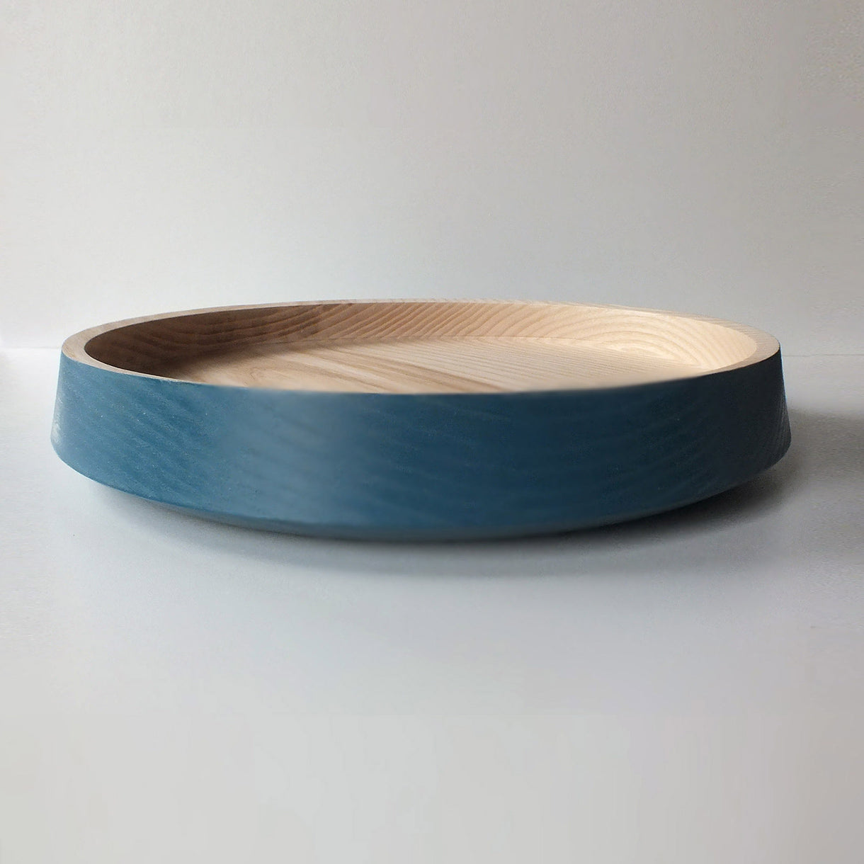 big flat bowl - bright blue