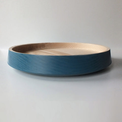 big flat bowl - deep blue