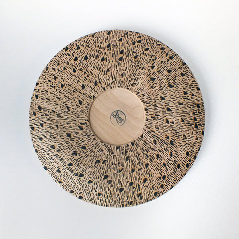 big flat bowl - burned pattern
