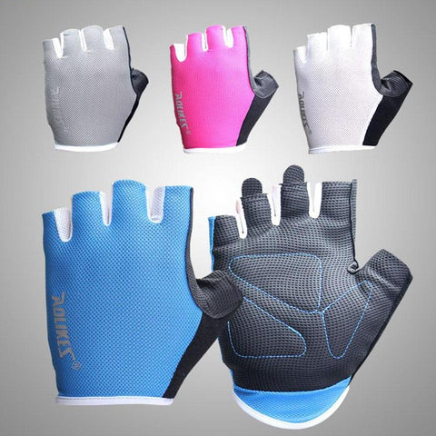 Pink Breathable Gym Gloves