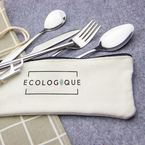 Reusable utensil travel set