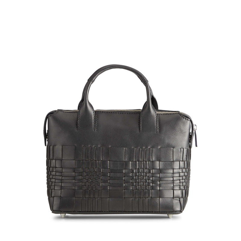 ABRIELLEMBG SMALL BAG WOVEN BLACK