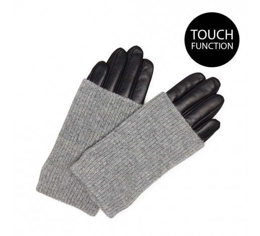 HELLY GLOVE-BLACK-GREY