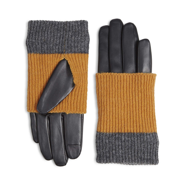 HELLYGLOVE-BLACK-AMBER-GREY