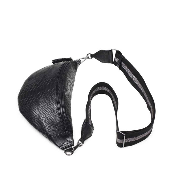 ELINOR BUM BAG SNAKE BLACK