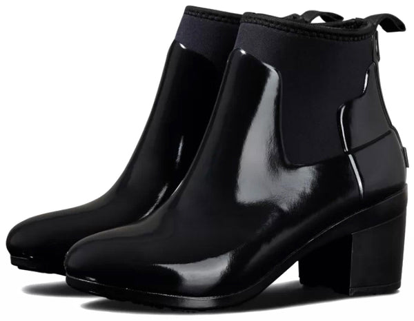 HUNTER WOMEN'S REFINED MIDHEEL GLOSS BLACK NAISTEN KUMISAAPPAAT
