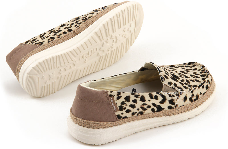 HEYDUDE LENA LEOPARD CANVAS ULTRA KEVYT LOAFER