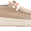 HEYDUDE WENDY RISE SANDSHELL CANVAS ULTRA KEVYT LOAFER
