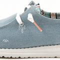 HEYDUDE WENDY LIGHT DENIM CANVAS ULTRA KEVYT LOAFER