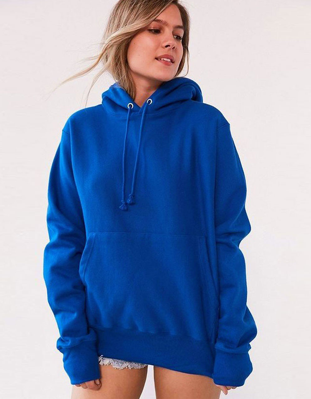 Sweat à Capuche Bleu Royal