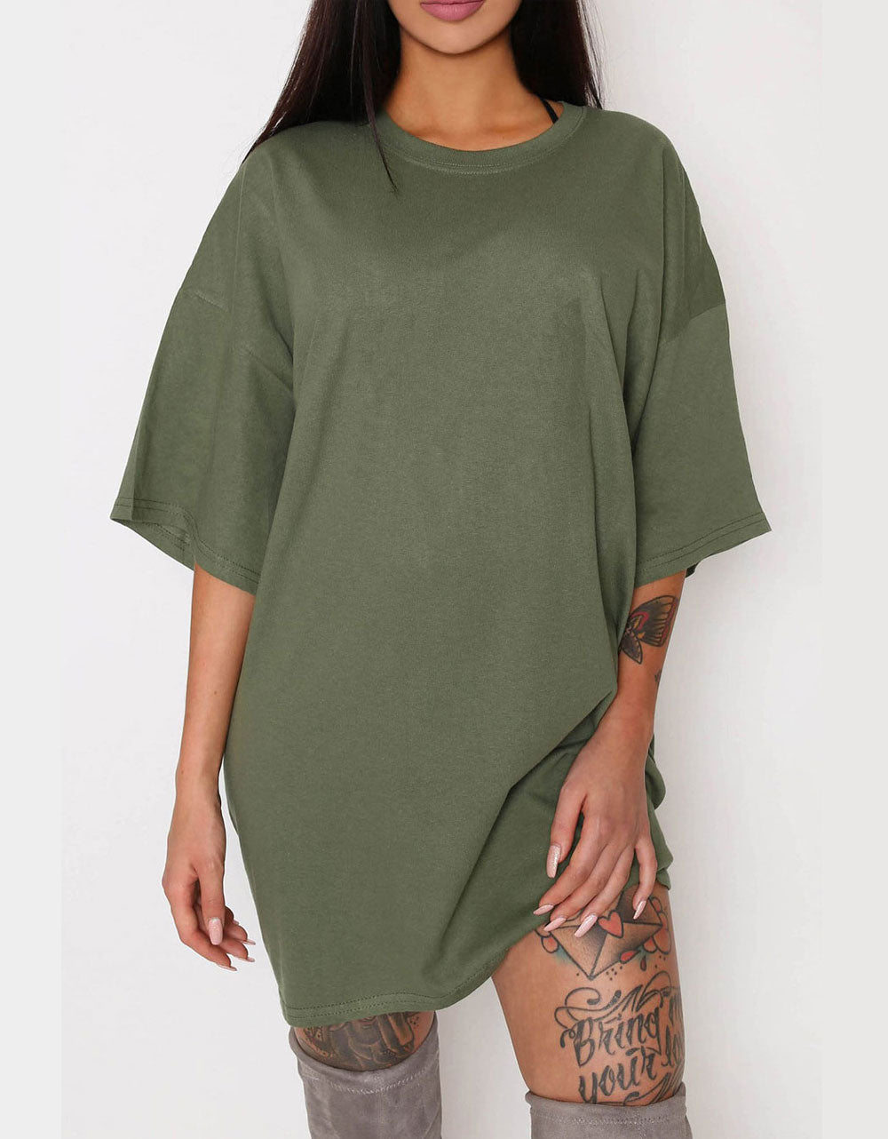 Simple - T-shirt Oversize Olive