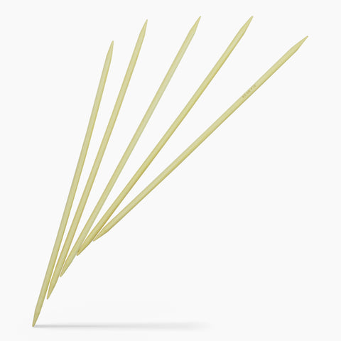 6mm #10 10-Inch Bamboo Double Point Knitting Needles