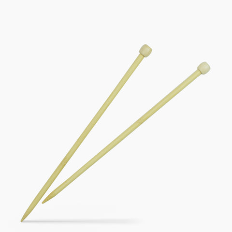10mm #15 14-Inch Bamboo Single Point Knitting Needles