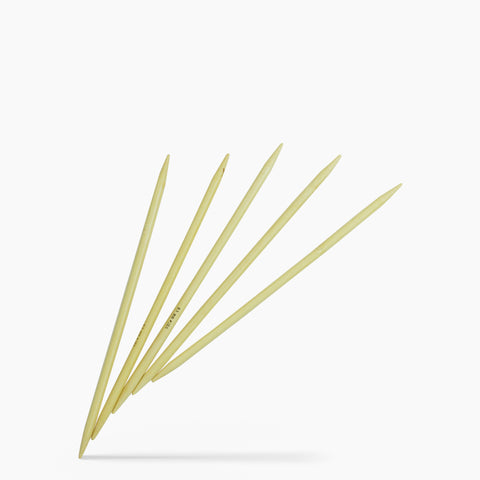 6.5mm #10.5 8-Inch Bamboo Double Point Knitting Needles