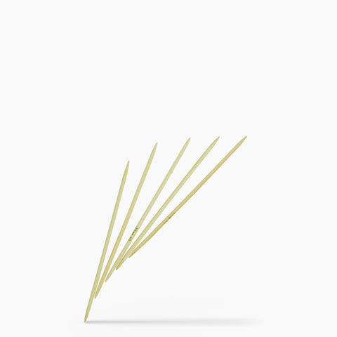 3.75mm #5 6-Inch Bamboo Double Point Knitting Needles