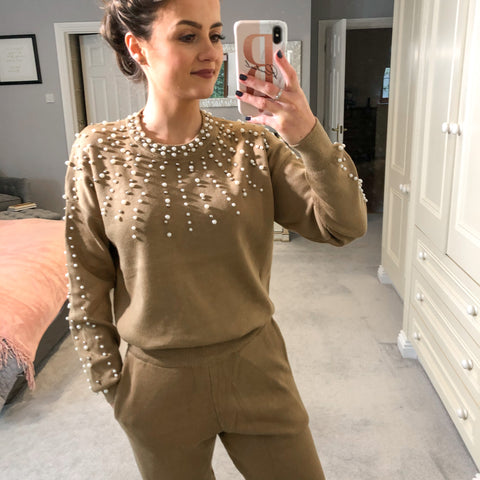 Styled Clothing Beige Pearl Lounge set