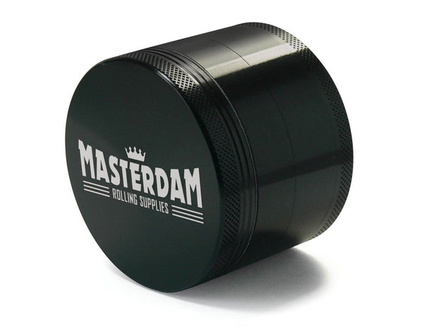 Masterdam 4-Piece Black Grinder Large 2.5""