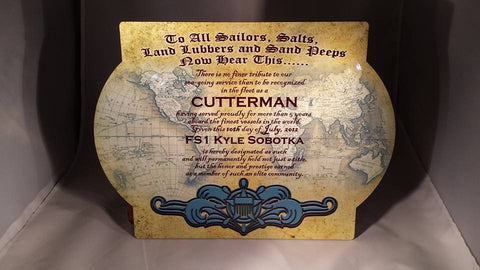 USCG Cutterman Plaque