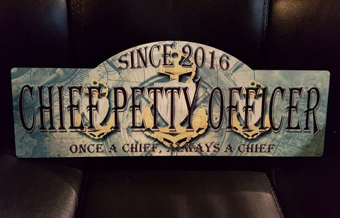 USCG Chief Petty Officer Sign