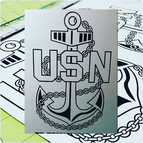 Decal USN Chief Anchor