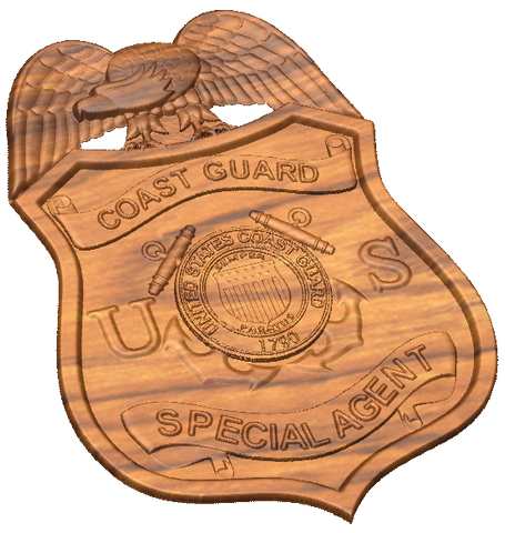 3D USCG CGIS Badge