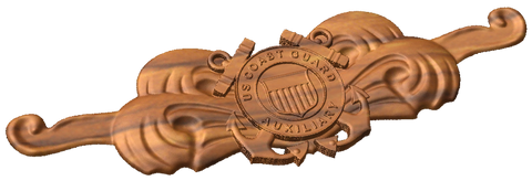 3D USCG Auxiliary Cuttermans Pin