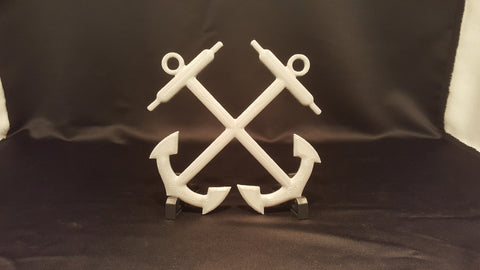 3D USCG Boatswains Mate Crossed Anchor Logo