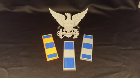 3D USCG CWO Officer Bars